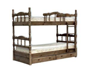 Кровать Лиона точённая (двух ярусная)