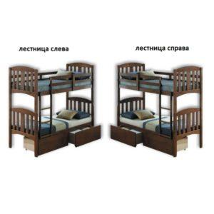 Кровать Мирослава (двух ярусная)